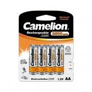 Piles NiMH Accus Rechargeable R06 / AA / 2500mAH / Blister 4 accus CAMELION