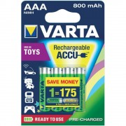 "Piles NiMH Accus ""Rechargeable Toy Accu"", micro (AAA) 4 pièces VARTA"