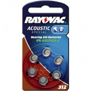 "Pile bouton auditives ""acoustic"", HA312/V312 (PR41) RAYOVAC"